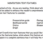 Nonfiction Article Adding Text Features