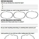 Nonfiction Book Clubs Group Recording Sheet