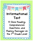 Informational Text Close Reading Comprehension & Fluency {
