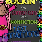Nonfiction Conventions Reading Response Sheets