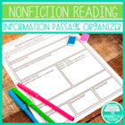 Nonfiction Reading Passage Organizer