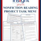 Nonfiction Reading Project w/a Task Menu &amp; Tic Tac Toe Pro