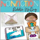 Nonfiction Riddles  Writer&#039;s Workshop Unit  K-2