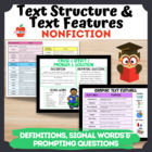 Nonfiction Text Feature & Structure Cards: Signal Words, P