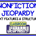 Nonfiction Text Feature and Text Structure Jeopardy Game