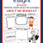 Nonfiction Text Features &quot;About Me&quot; Booklet