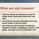 Nonfiction Text Features Determining Importance Reading Sk