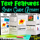 Nonfiction Text Features Foldable Craftivity (intro versio