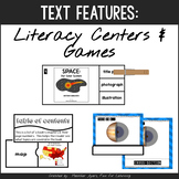 Informational Text Features {Games & Literacy Centers}