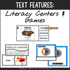 Nonfiction Text Features {Game Cards for Quiz and Board Games}