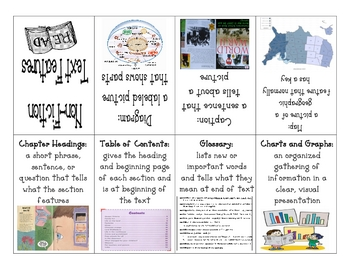 Nonfiction Text Features Mini-Booklet and Student Assignment