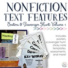 Nonfiction Text Features: Posters &amp; Scavenger Hunt