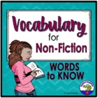 Nonfiction Vocabulary You Should Know PowerPoint