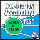 Nonfiction Vocabulary You Should Know Test