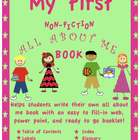 Nonfiction writing for beginners with all about me web and book