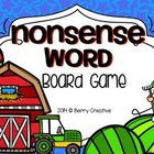 Nonsense Word Activity Board Game ~DIBELS Intervention