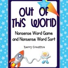 Nonsense Word Game ~ Space Theme