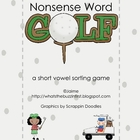 Nonsense Word Golf {A Short Vowel Word Sort Game}
