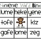 Nonsense Words CVC and CVCe Bingo