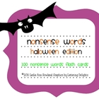 Nonsense Words Flash Cards: Halloween Edition