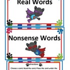 Nonsense Words P.J. Panther's  Real vs Nonsense