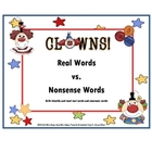 Nonsense Words vs Real Words ( Clown / Circus Theme)