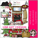 North Pole LINE ART bundle by melonheadz