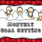 Monthly Goal Setting for Content and Behavior (Color and B&W)