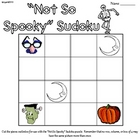 """Not So Spooky"" Halloween Sudoku"