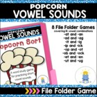 Not So Wimpy File Folder Game: Popcorn Sorts ( short vowel