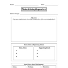 Note Taking Organizer