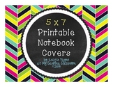 Notebook Covers: 5 x 7, Black and White, Printable