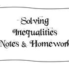 Notes - Solving Inequalities