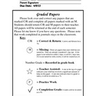 Notes to Parents - Graded Papers