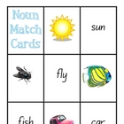 Noun Match Cards - picture & text - Genre/Text Type Aide -
