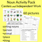 Noun Picture Cards and Recording Sheets for Sorting