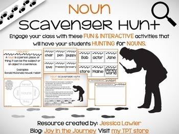 Noun Scavenger Hunt Activity