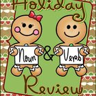 Noun and Verb Review - Christmas and Winter Theme