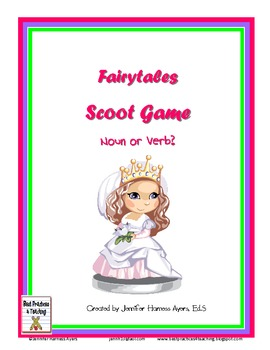 Noun and Verb Scoot:  Fairy Tale Version