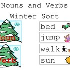 Noun and Verb Winter Word Sort