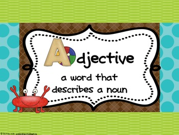 Nouns & Adjectives: There Was An Old Lady Who Swallowed a Shell
