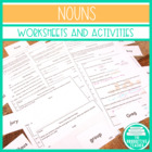Nouns - Assessments/Worksheets/Handouts - Common Core Stan