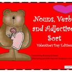 Nouns, Verbs, and Adjectives Sort- Valentine's Day Edition