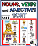 Nouns, Verbs, and Adjectives Sorting Activity - Set 1