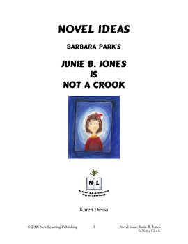 Novel Ideas: Junie B. Jones Is Not A Crook