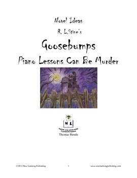 Novel Ideas - R. L. Stine's Goosebumps Piano Lessons Can B