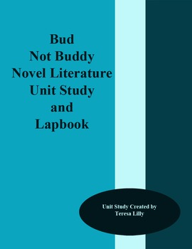 Novel Literature Unit Study and Lapbook: Bud Not Buddy Literature