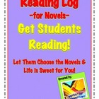 Novel Log Printables: Writing Summaries &amp; Reflections; Vocabulary