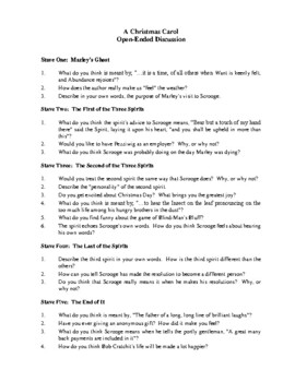 Novel Study, A Christmas Carol Study Guide