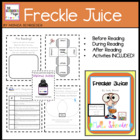 Novel Study: Freckle Juice
